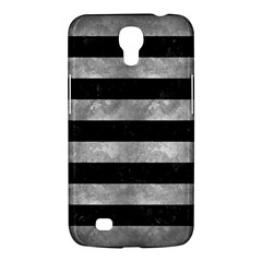 Stripes2 Black Marble & Gray Metal 2 Samsung Galaxy Mega 6 3  I9200 Hardshell Case by trendistuff