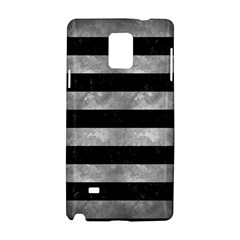 Stripes2 Black Marble & Gray Metal 2 Samsung Galaxy Note 4 Hardshell Case by trendistuff