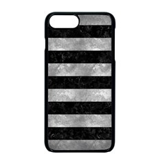 Stripes2 Black Marble & Gray Metal 2 Apple Iphone 7 Plus Seamless Case (black) by trendistuff