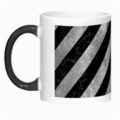 Stripes3 Black Marble & Gray Metal 2 Morph Mugs by trendistuff