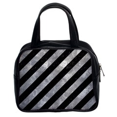 Stripes3 Black Marble & Gray Metal 2 Classic Handbags (2 Sides) by trendistuff