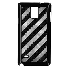 Stripes3 Black Marble & Gray Metal 2 Samsung Galaxy Note 4 Case (black) by trendistuff