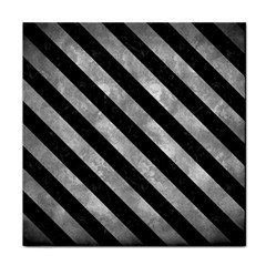 Stripes3 Black Marble & Gray Metal 2 (r) Tile Coasters by trendistuff