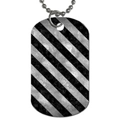 Stripes3 Black Marble & Gray Metal 2 (r) Dog Tag (one Side) by trendistuff