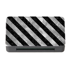 Stripes3 Black Marble & Gray Metal 2 (r) Memory Card Reader With Cf by trendistuff