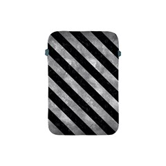 Stripes3 Black Marble & Gray Metal 2 (r) Apple Ipad Mini Protective Soft Cases by trendistuff