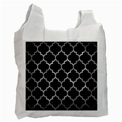Tile1 Black Marble & Gray Metal 2 Recycle Bag (two Side)  by trendistuff