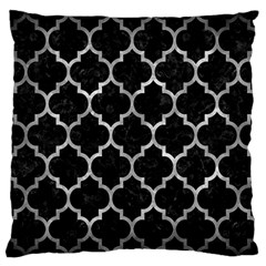 Tile1 Black Marble & Gray Metal 2 Large Flano Cushion Case (one Side) by trendistuff