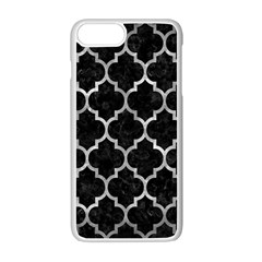 Tile1 Black Marble & Gray Metal 2 Apple Iphone 7 Plus White Seamless Case by trendistuff