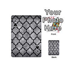 Tile1 Black Marble & Gray Metal 2 (r) Playing Cards 54 (mini)  by trendistuff