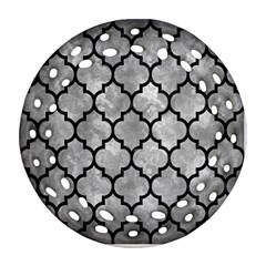 Tile1 Black Marble & Gray Metal 2 (r) Round Filigree Ornament (two Sides) by trendistuff