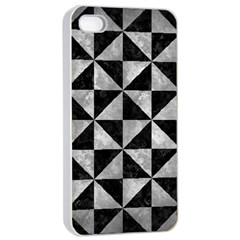 Triangle1 Black Marble & Gray Metal 2 Apple Iphone 4/4s Seamless Case (white) by trendistuff