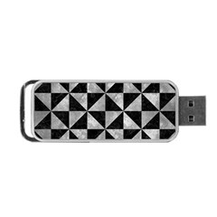 Triangle1 Black Marble & Gray Metal 2 Portable Usb Flash (two Sides) by trendistuff