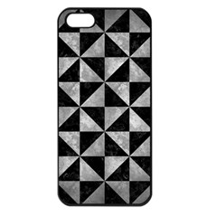 Triangle1 Black Marble & Gray Metal 2 Apple Iphone 5 Seamless Case (black) by trendistuff