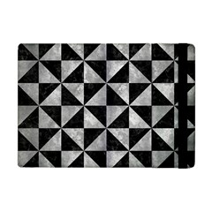 Triangle1 Black Marble & Gray Metal 2 Apple Ipad Mini Flip Case by trendistuff