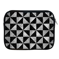 Triangle1 Black Marble & Gray Metal 2 Apple Ipad 2/3/4 Zipper Cases by trendistuff