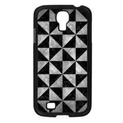 Triangle1 Black Marble & Gray Metal 2 Samsung Galaxy S4 I9500/ I9505 Case (black) by trendistuff