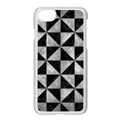 Triangle1 Black Marble & Gray Metal 2 Apple Iphone 7 Seamless Case (white) by trendistuff