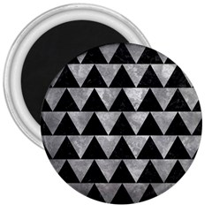 Triangle2 Black Marble & Gray Metal 2 3  Magnets by trendistuff