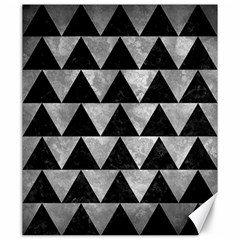 Triangle2 Black Marble & Gray Metal 2 Canvas 20  X 24   by trendistuff