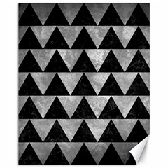 Triangle2 Black Marble & Gray Metal 2 Canvas 11  X 14   by trendistuff