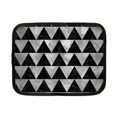 Triangle2 Black Marble & Gray Metal 2 Netbook Case (small)  by trendistuff