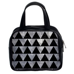 Triangle2 Black Marble & Gray Metal 2 Classic Handbags (2 Sides) by trendistuff