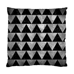 Triangle2 Black Marble & Gray Metal 2 Standard Cushion Case (one Side) by trendistuff