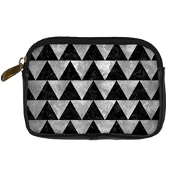 Triangle2 Black Marble & Gray Metal 2 Digital Camera Cases by trendistuff