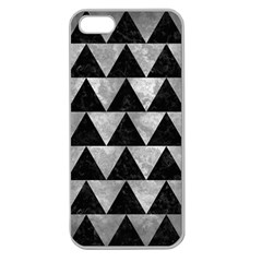 Triangle2 Black Marble & Gray Metal 2 Apple Seamless Iphone 5 Case (clear) by trendistuff