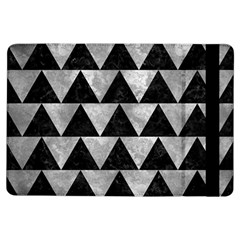 Triangle2 Black Marble & Gray Metal 2 Ipad Air Flip by trendistuff