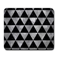 Triangle3 Black Marble & Gray Metal 2 Large Mousepads by trendistuff