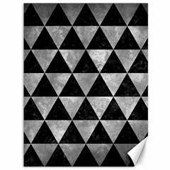 Triangle3 Black Marble & Gray Metal 2 Canvas 36  X 48   by trendistuff