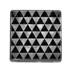 Triangle3 Black Marble & Gray Metal 2 Memory Card Reader (square) by trendistuff