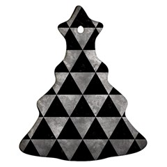 Triangle3 Black Marble & Gray Metal 2 Christmas Tree Ornament (two Sides) by trendistuff