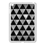 TRIANGLE3 BLACK MARBLE & GRAY METAL 2 Apple iPad Mini Case (White) Front