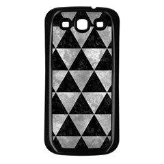 Triangle3 Black Marble & Gray Metal 2 Samsung Galaxy S3 Back Case (black) by trendistuff