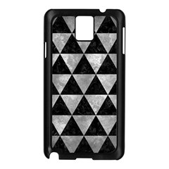 Triangle3 Black Marble & Gray Metal 2 Samsung Galaxy Note 3 N9005 Case (black) by trendistuff