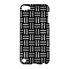 Woven1 Black Marble & Gray Metal 2 Apple Ipod Touch 5 Hardshell Case by trendistuff
