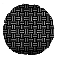 Woven1 Black Marble & Gray Metal 2 Large 18  Premium Flano Round Cushions by trendistuff