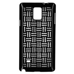 Woven1 Black Marble & Gray Metal 2 Samsung Galaxy Note 4 Case (black) by trendistuff