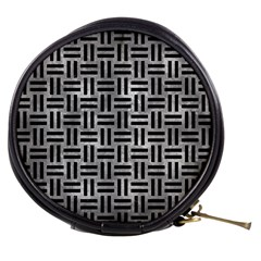 Woven1 Black Marble & Gray Metal 2 (r) Mini Makeup Bags by trendistuff