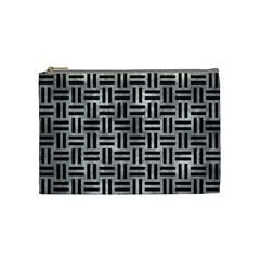 Woven1 Black Marble & Gray Metal 2 (r) Cosmetic Bag (medium)  by trendistuff