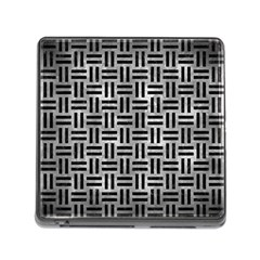 Woven1 Black Marble & Gray Metal 2 (r) Memory Card Reader (square) by trendistuff