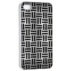 Woven1 Black Marble & Gray Metal 2 (r) Apple Iphone 4/4s Seamless Case (white) by trendistuff