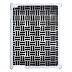 Woven1 Black Marble & Gray Metal 2 (r) Apple Ipad 2 Case (white) by trendistuff