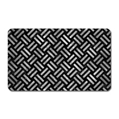 Woven2 Black Marble & Gray Metal 2 Magnet (rectangular) by trendistuff