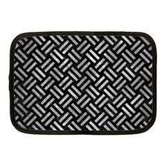 Woven2 Black Marble & Gray Metal 2 Netbook Case (medium)  by trendistuff