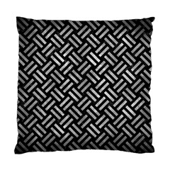 Woven2 Black Marble & Gray Metal 2 Standard Cushion Case (one Side) by trendistuff