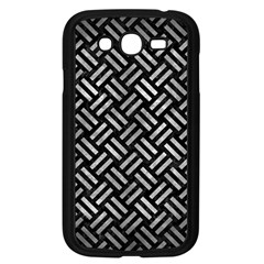 Woven2 Black Marble & Gray Metal 2 Samsung Galaxy Grand Duos I9082 Case (black) by trendistuff